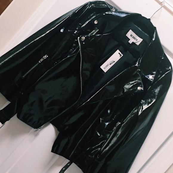 BB Dakota Jackets & Blazers - NWT BB Dakota Vinyl Moto Jacket Black